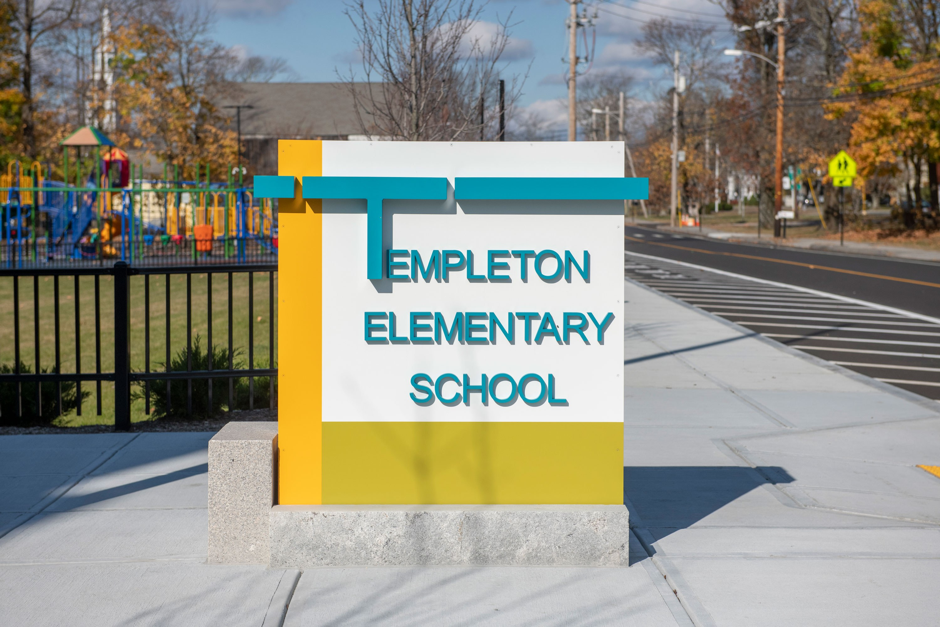 Narragansett RSD Templeton Center School Exterior Image 5 sign